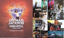 Michael Jackson Programme The Immortal World Tour CIRQUE DU SOLEIL Program 2011