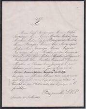 *1869 Faire-part décès Suzanne-Célestine-Léontine JAUZENQUE - Allez-et-Cazeneuve