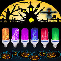 LED Flame Fire Light Effect Light Bulb Halloween Party Atmosphere Home Outdoor