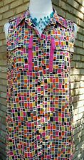 Cousin earl by IvyJane casual small pixel tunic top sleeveless with front pocket