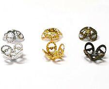 300 Perlenkappen 8mm Schmuck Zwischenteil Perlkappen Silber Gold Kupfer Set