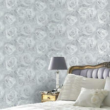 Reverie Rose Wallpaper Silver Grey - Arthouse 623303 Floral