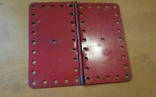 vintage meccano parts red flexi plates