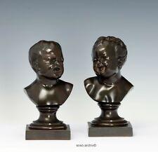 vers 1850 Ein Paire kinderbüsten après Jean B.Pigalle (1714-1785) BRONZE FRANCE