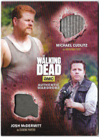 Walking Dead Season 4 Dual Costume Relic Wardrobe Card Abraham & Eugene DM6