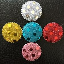 DIY 50PCS Padded Sequin round  Appliques Craft Wedding decoration making  -A31A