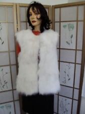 BRAND NEW WHITE FOX  SECTION FUR VEST WOMEN WOMAN