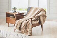 "Doe A Deer Faux Animal Fur Throw Blanket 50"" x 60"" Soft & Cozy BRAND NEW!"