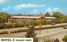 Walnut Creek California~Motel 6~1950-60 Cars on Freeway~1966 Postcard
