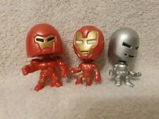 Marvel Iron Man Hall of Armor Figures Mini Bobble Heads Originally SDCC Set of 3