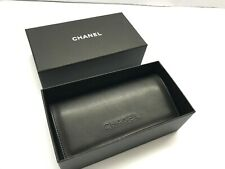 Chanel Sunglasses Gift Box Sunglasses Black Leather Case With Cloth Large Size