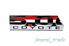 Argent 5.0 Coyote logo métal 3D Car Auto emblème badge Decal Sticker Shelby GT500