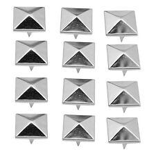 100 Pcs 12mm Silver Pyramid Studs Nailheads AD