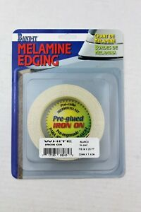 White Melamine Iron on Edge Banding Band-It  0.875 x 25' Edging 7/8in x 25ft -d8