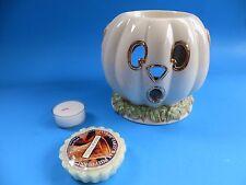 """Lenox Occasions Halloween Pumpkin Tart Warmer w/Tart & Warmer 5"""" Tall Nib Mint"""