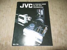 JVC A Concise Guide to JVC Hi-Fi Tech Super A Amp Turntable Speakers more