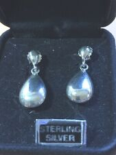 VINTAGE STERLING SILVER .925 TEARDROP STUD EARRINGS J171