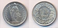 Schweiz  1 Fr. 1928 B  Silber   aUNZ/bankfrisch  so selten