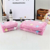 Warm Pet Flannel Blanket Bed Mat Pad Cover Coral Cushion For Dog Cat Puppy Star