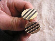 Vintage Hickok  Cufflinks with Stripes