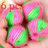 6x Fusselbälle Waschbälle Flusenbälle Antistatikbälle Fusseln Trockner Ball Heiß
