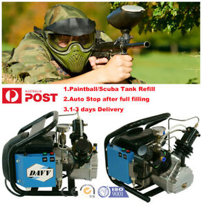 220V Electric High Pressure Air Compressor for Scuba PCP Paintball Tank Refill