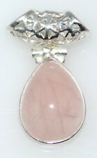 Pink Rose Quartz 925 Sterling Silver Pendant  Gemstone Pendants Jewellery NEW!