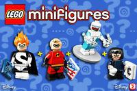 LEGO Disney Minifigures 71012, 71024 - Incredible, Syndrome, Edna, Frozone - NEW