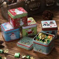 Square Bump Candy Box Storage Iron Box Christmas Candy Cans Children'S Gift Hot