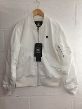 Long Clothing UNISEX White Grace Neutral MA1 Jacket. Boy London, Selfridges