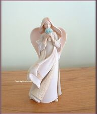 FORGET-ME-NOT ANGEL FIGURINE BY ENESCO FOUNDATIONS FREE U.S. SHIPPING