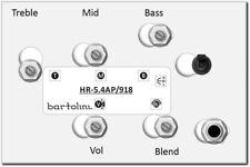 Bartolini HR-5.4AP 3-Band Active Bass EQ w/Vol, Blend, Bass, Treble, 3-Freq Mid