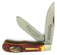 Remington 20th Anniversary Bullet Poster Trapper Knife Limited Edition 5484-NQ