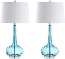 "Jonathan Y Jyl1079B-Set2 Bette 28.5"" Glass Teardrop Led Table Lamp Contemporary,"