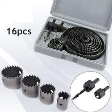 16Pc Set De Corona Perforadora Sierra de Corona Broca Para Madera Chapa de Metal