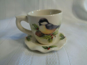 Cracker Barrel Holiday Chickadee Christmas Cup Let Heaven & Nature Sing