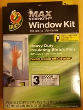 Duck Max Heavy Duty 3 Window Kit Shrink Film Insulation Kit - FAST SHIPPING