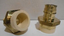 Lot Of 2 New 34 Cpvc 34 Expansion Pex Straight Adapters Sioux 645wgc3