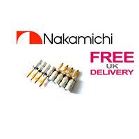 8x Quality Nakamichi Speaker banana plug 24k Gold plated connector **UK**