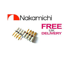 8x Quality Nakamichi Speaker banana plug 24k Gold plated connector **UK**