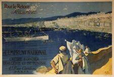 """""""CREDIT FONCIER D'ALGERIE et TUNISIE 1917"""" Affiche origin. entoilée R.P.118x82cm"""