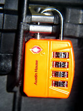 3 Orange Big Shackle 4 dial combination TSA Luggage case lock fits Pelican™ case