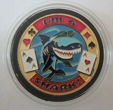 I'M A SHARK poker Card Guard Protector Cover - Brass coin