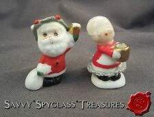 PAIR Vintage Napco Bone China Miniature Santa & Mrs. Claus Figurines
