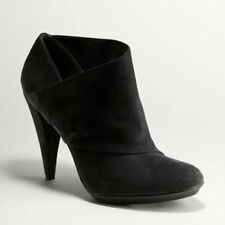 Auth COACH Astrid Black Suede Ankle Boots Shoes NIB 9.5