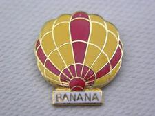"""Hot Air Balloon PIN """"Banana"""" Vtg. '84 Yellow & Red Pin"""