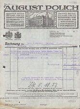 LEIPZIG, Rechnung 1927, Damen- und Herren-Kleidung, Kurzwaren August Polich