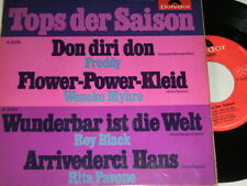 "7"" EP - Tops der Saison Freddy Roy Black Rita Pavone Wencke Myhre # 1139"