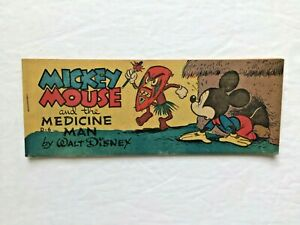 MICKEY MOUSE & the MEDICINE MAN - 1951 WHEATIES comic book by WALT DISNEY
