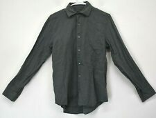Banana Republic Classic Mens Small 100% Cotton Button Up Dress Casual Shirt Gray